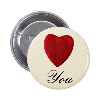 Finery background Love you 6 Cm Round Badge