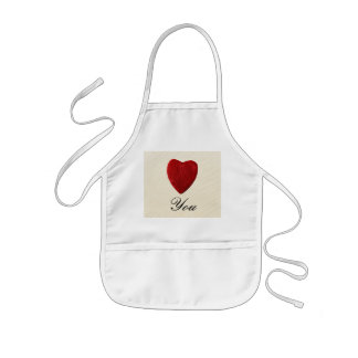 Finery background Love you Kids Apron