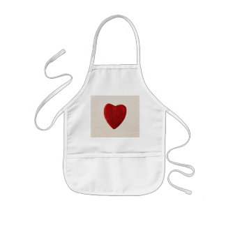 Finery background with heart kids apron