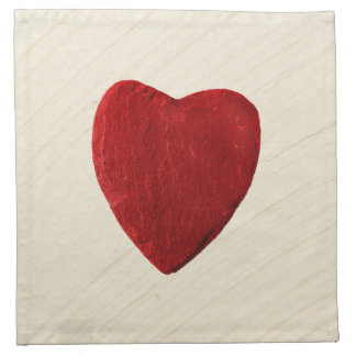 Finery background with heart napkin