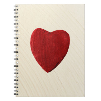 Finery background with heart notebook
