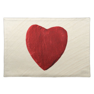 Finery background with heart place mat