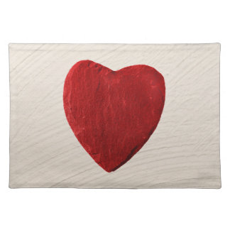 Finery background with heart placemat
