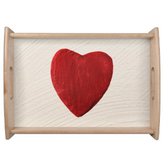 Finery background with heart serving tray