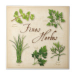 Fines Herbes, Parsley, Chives, Tarragon, Chervil, Small Square Tile