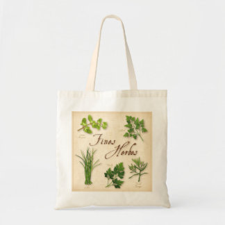 Fines Herbs, Recipe, Parsley, Chives, Tarragon, Budget Tote Bag