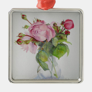 Finest of Old roses Silver-Colored Square Decoration