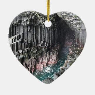 FINGALS CAVE CERAMIC HEART DECORATION