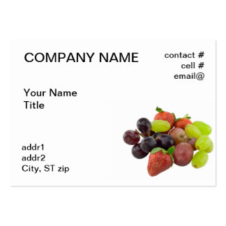 finger fruit pack of chubby business cards