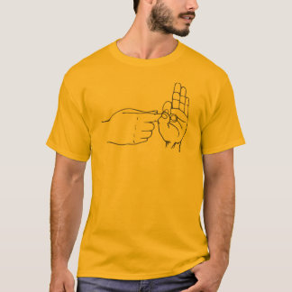 Finger Hole Gesture Naughty Sign Language T-Shirt