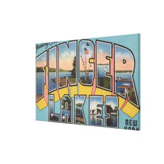 Finger Lakes, New York - Large Letter Scenes Canvas Prints