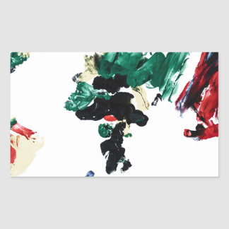 Finger Paint World Map Rectangle Stickers