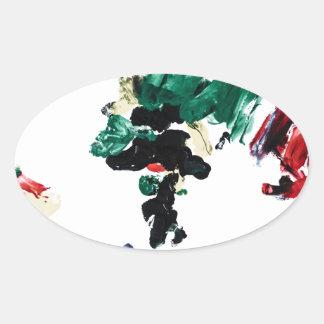 Finger Paint World Map Sticker