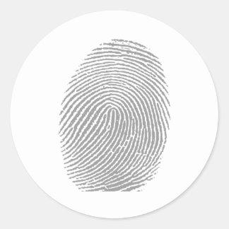 Finger print round sticker