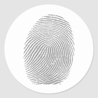 Finger print sticker