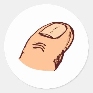 Finger Runder Aufkleber