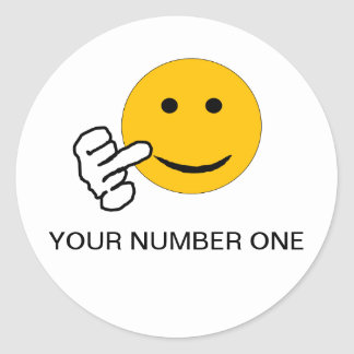 Finger Your Number One Sticker