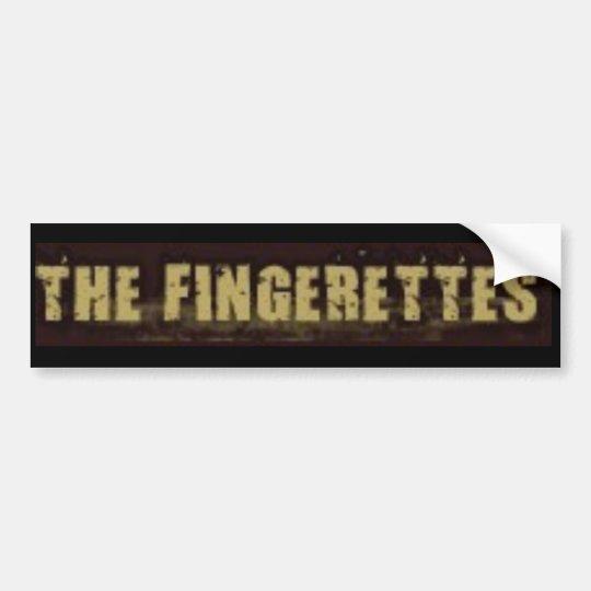 Fingerettes bumper sticker
