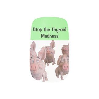 FINGERNAILS - Stop the Thyroid Madness Minx Nail Art