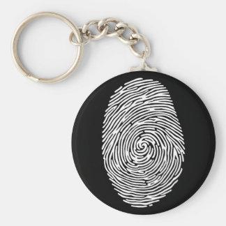 fingerprint4 basic round button key ring