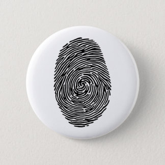 fingerprint 6 cm round badge