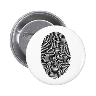 fingerprint 6 cm round badge
