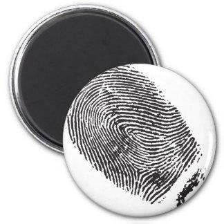 Fingerprint 6 Cm Round Magnet