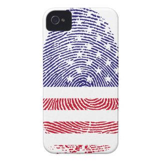 Fingerprint American USA National Flag Independenc Case-Mate iPhone 4 Case