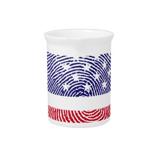 Fingerprint American USA National Flag Independenc Pitcher