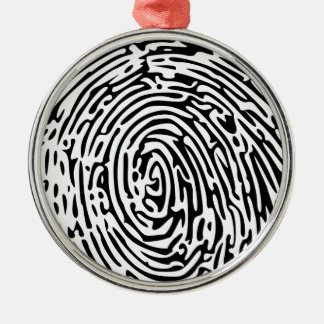 Fingerprint Background Christmas Ornament