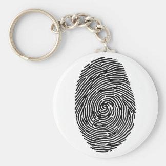 fingerprint basic round button key ring