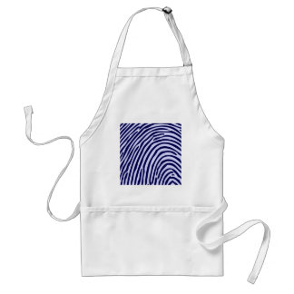 Fingerprint Blue Color Funny Photo Design Styles Aprons