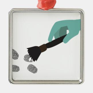 Fingerprint Brush Christmas Ornament