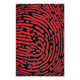 Fingerprint Bubble Photo Print