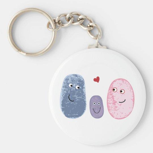 Fingerprint family key ring