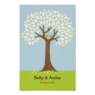 Fingerprint / Signature Tree Wedding (Daytime) Poster