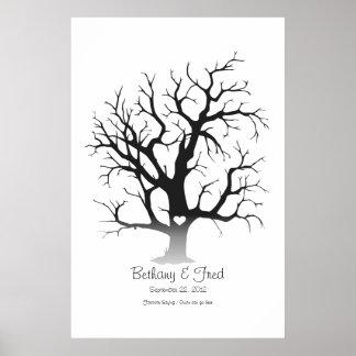 """Fingerprint Tree 24""""x36"""" Poster"""