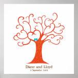 Fingerprint Tree Wedding (Heartastic) Square