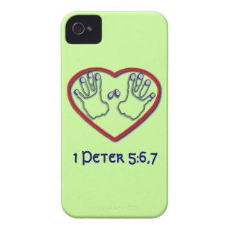 Fingerprints of God - 1 Peter 5:6-7 Case-Mate iPhone 4 Cases