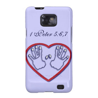 Fingerprints of God - 1 Peter 5:6-7 Galaxy S2 Cases