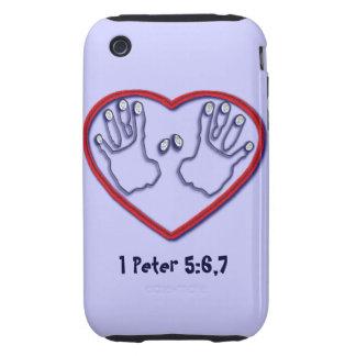Fingerprints of God - 1 Peter 5:6-7 Tough iPhone 3 Cover