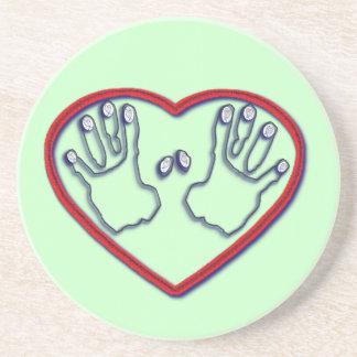 Fingerprints of God - 1 Peter 5:6-7 Drink Coasters