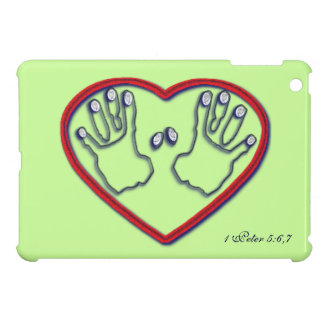 Fingerprints of God - 1 Peter 5 6-7 iPad Mini Cases