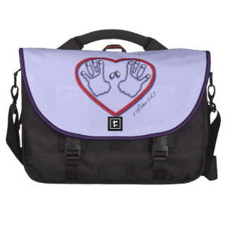 Fingerprints of God - 1 Peter 5:6-7 Laptop Messenger Bag