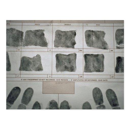 Fingerprints Post Card