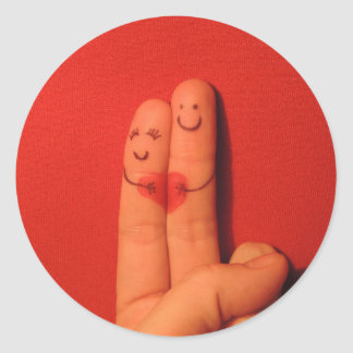 Fingers love romance artistic illustration stickers