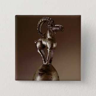 Finial with a mountain goat 15 cm square badge