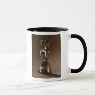 Finial with a mountain goat mug