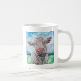 finisCow no 04. 0223 Irish Charolais Cow Coffee Mug
