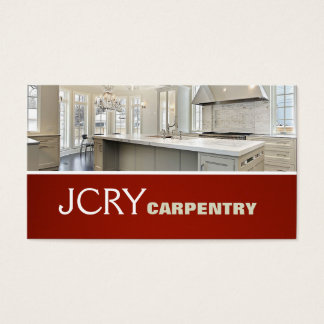 Finish Carpentry Kitchen House Home Remodel Business Card